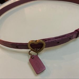 Coach belt in purple